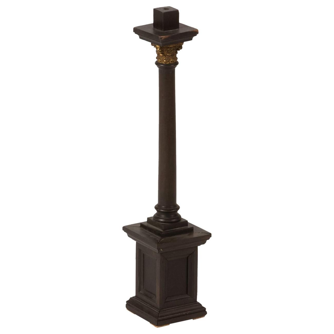 Late 19th Century Wooden Column Model from France