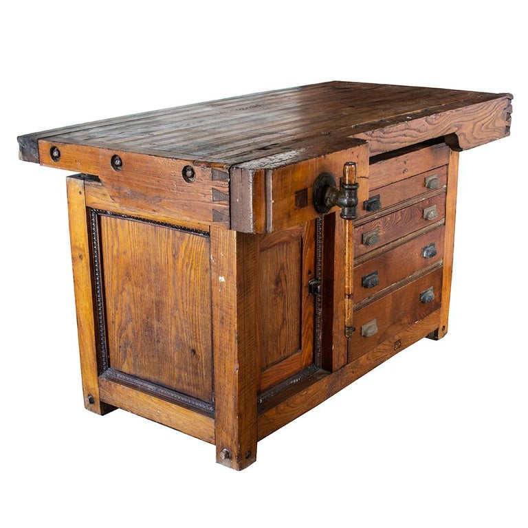 Industrial Late 19th Century Workbench For Sale