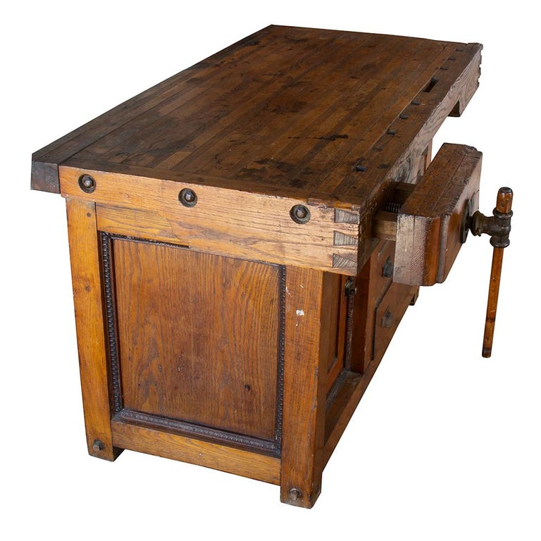 American Late 19th Century Workbench For Sale