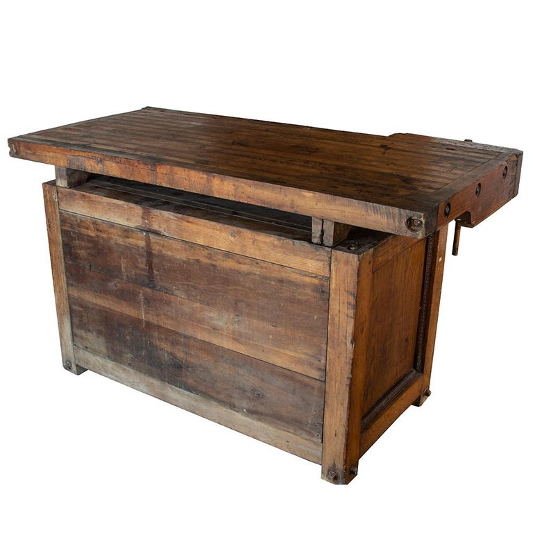 Ash Late 19th Century Workbench For Sale