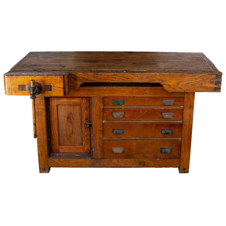 Late 19th Century Workbench For Sale