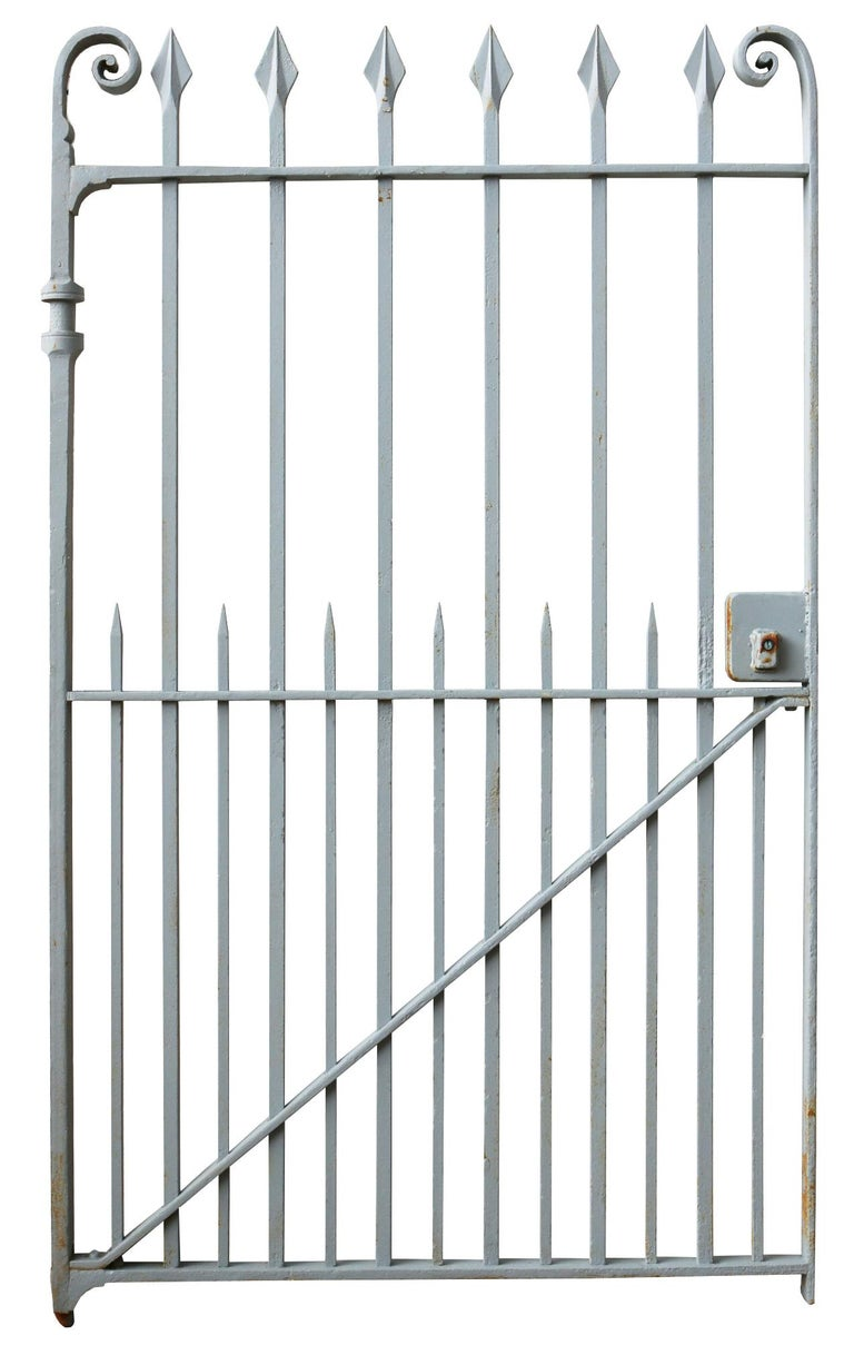 Victorian Late 19th Century Wrought Iron Pedestrian Gate For Sale