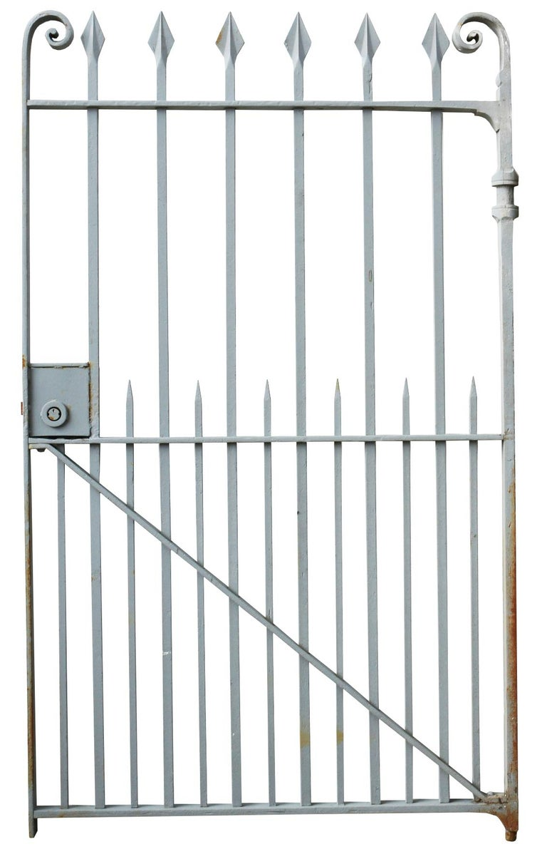 English Late 19th Century Wrought Iron Pedestrian Gate For Sale