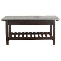 Late 19th Century Zinc Top Mending Table