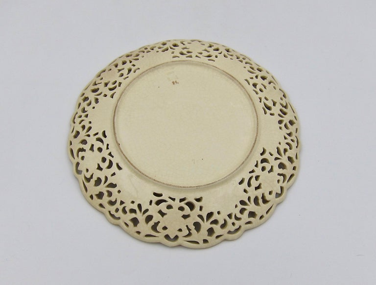 Late 19th Century Zsolnay Pecs Reticulated Polychrome Plate For Sale 1