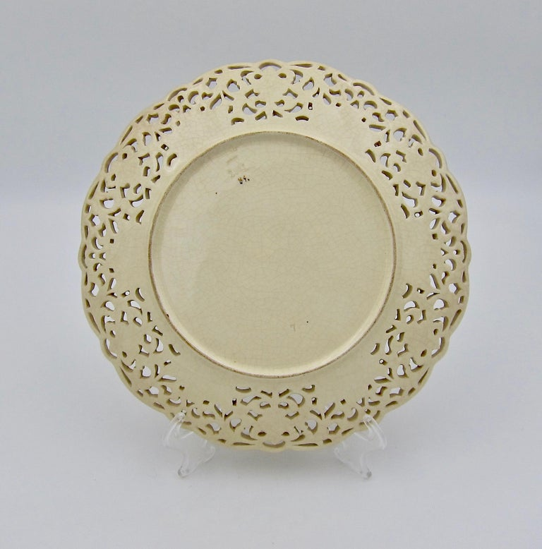 Late 19th Century Zsolnay Pecs Reticulated Polychrome Plate For Sale 2