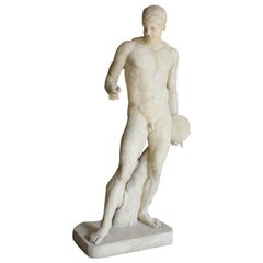 """Late 19th-Early 20th Century Life Size Statue of """"Discobolus"""""""