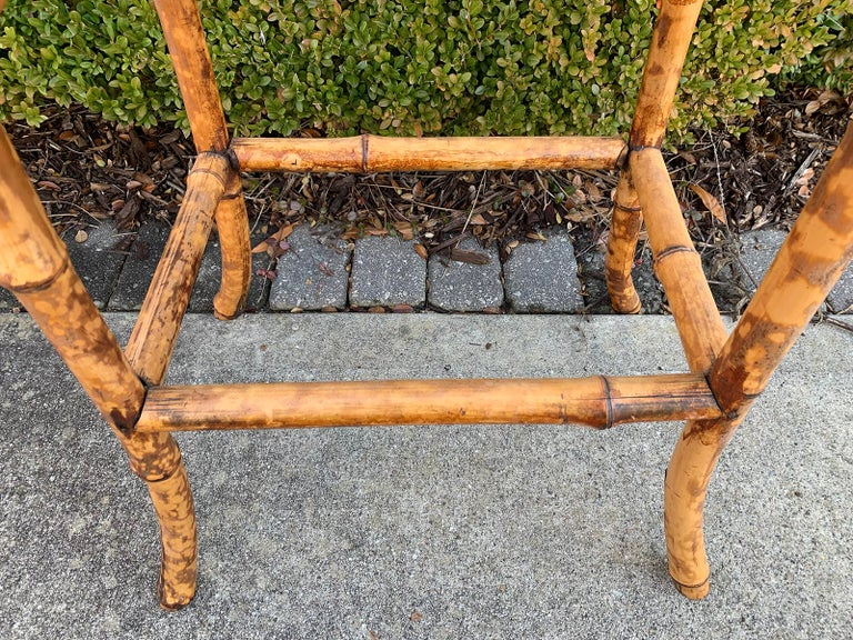 Late 19th-Early 20th Century Bamboo Side Table For Sale 9