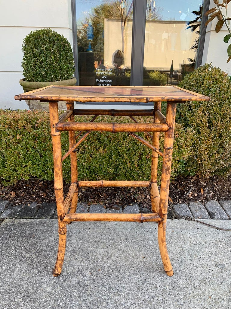 Late 19th-early 20th century bamboo side table.