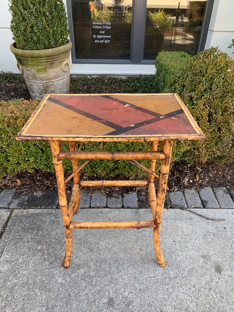Late 19th-Early 20th Century Bamboo Side Table In Good Condition For Sale In Atlanta, GA