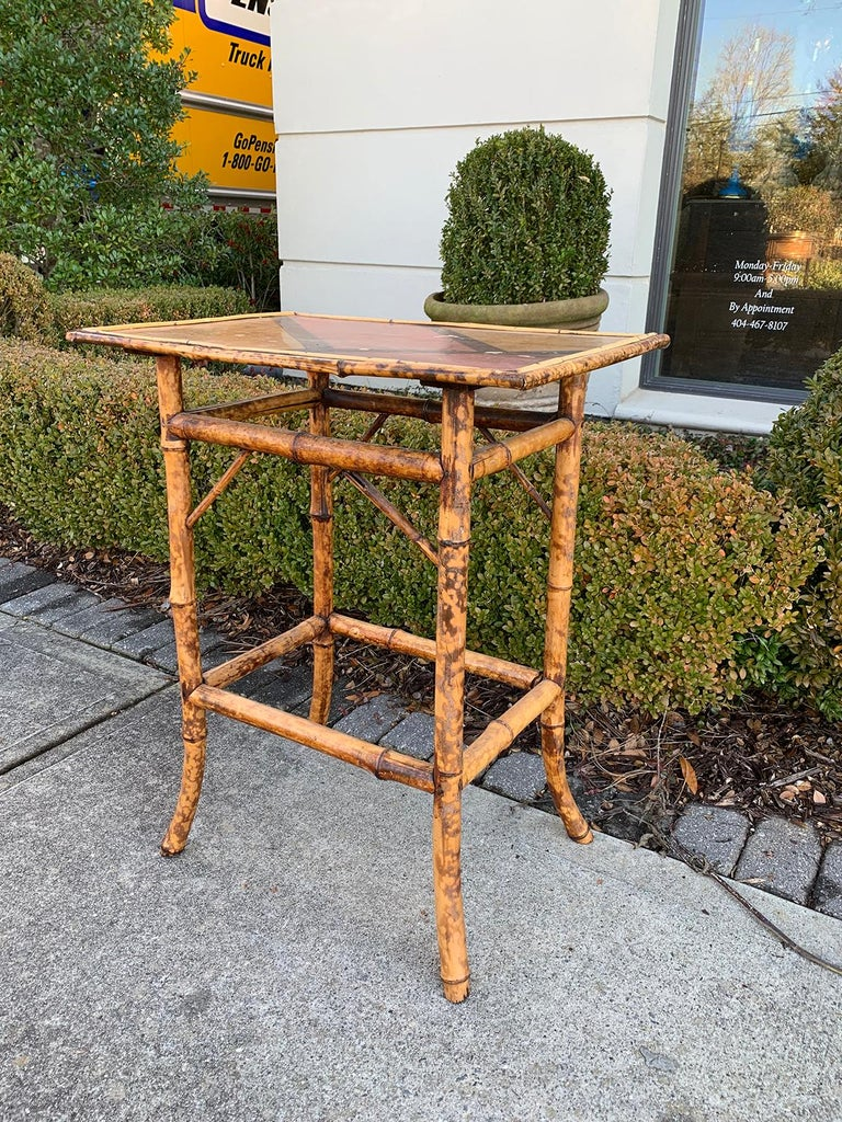 Late 19th-Early 20th Century Bamboo Side Table For Sale 2