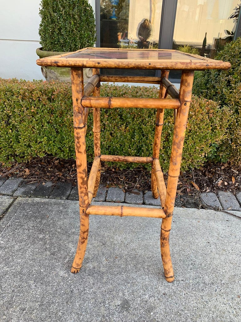 Late 19th-Early 20th Century Bamboo Side Table For Sale 3