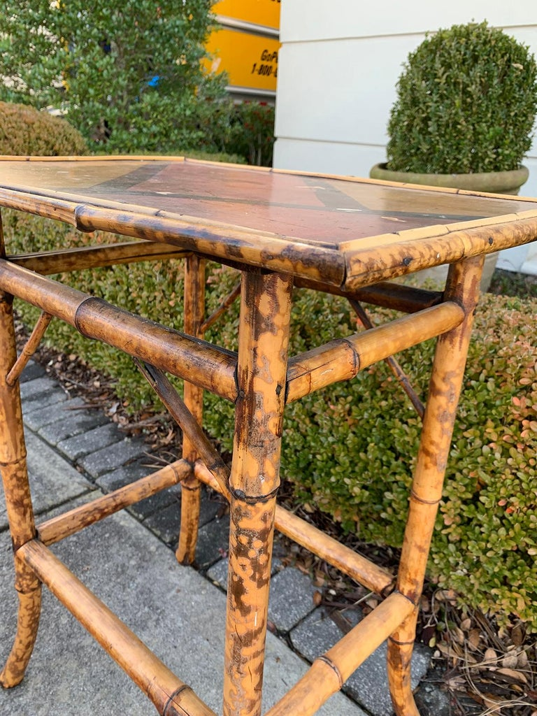Late 19th-Early 20th Century Bamboo Side Table For Sale 5