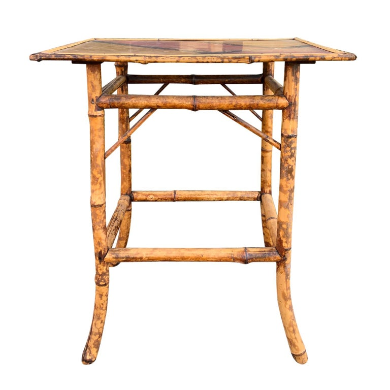 Late 19th-Early 20th Century Bamboo Side Table For Sale