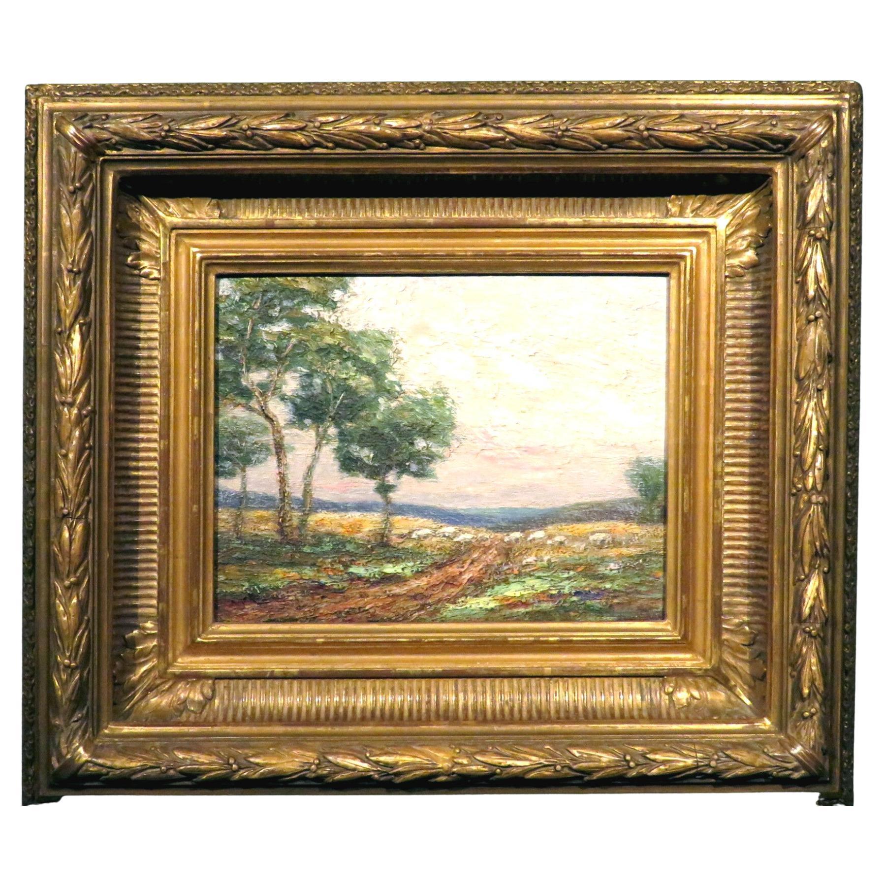 Late 19th-Early 20th Century Barbizon School Landscape, Continental Circa 1900
