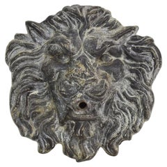 Late 19th-Early 20th Century English Lead Lion Fountain Head
