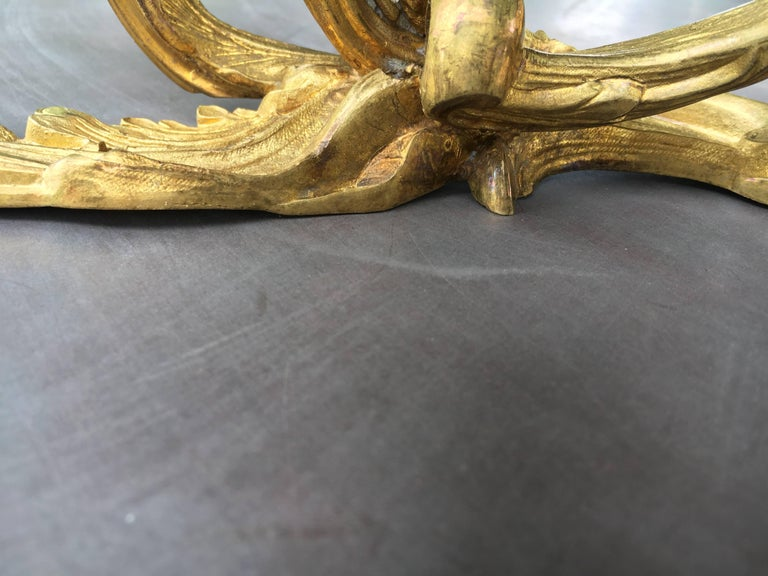 Late 19th Early 20th Century French Louis XV Style Gilt Bronze Sconces For Sale 5