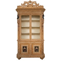 Late 19th-Early 20th Century Italian Cabinet with Blackamoor Motif