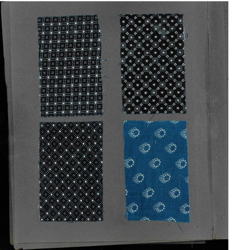 Late 19th-Early 20th Century Japanese Textile Swatch Book For Sale 2