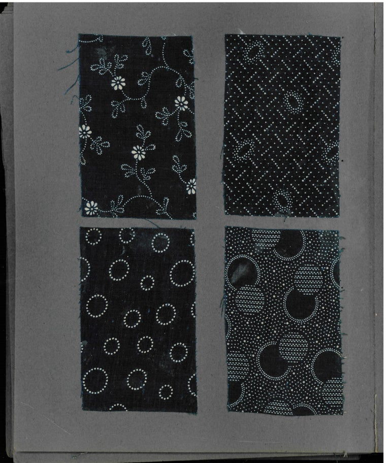 Late 19th-Early 20th Century Japanese Textile Swatch Book For Sale 3