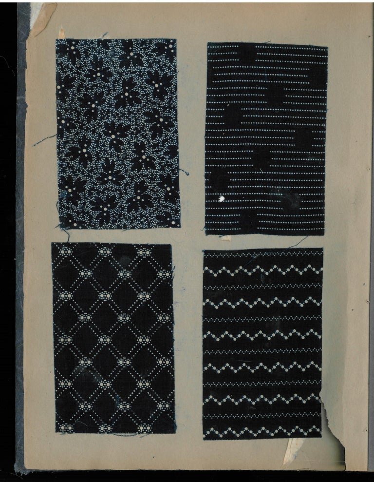 Late 19th-Early 20th Century Japanese Textile Swatch Book For Sale 4