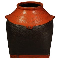 Late 19th-Early 20th Century Lacquer Container, Burma