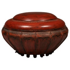 Late 19th-Early 20th Century Lacquer Offering Vessel, Hsun-ok, Burma