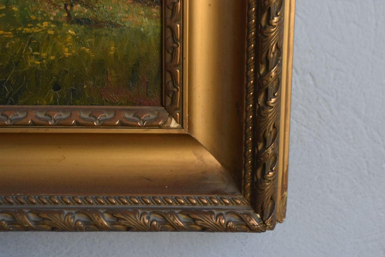 Late 19th Century Oil on Canvas Landscape by Paul Huet For Sale 8