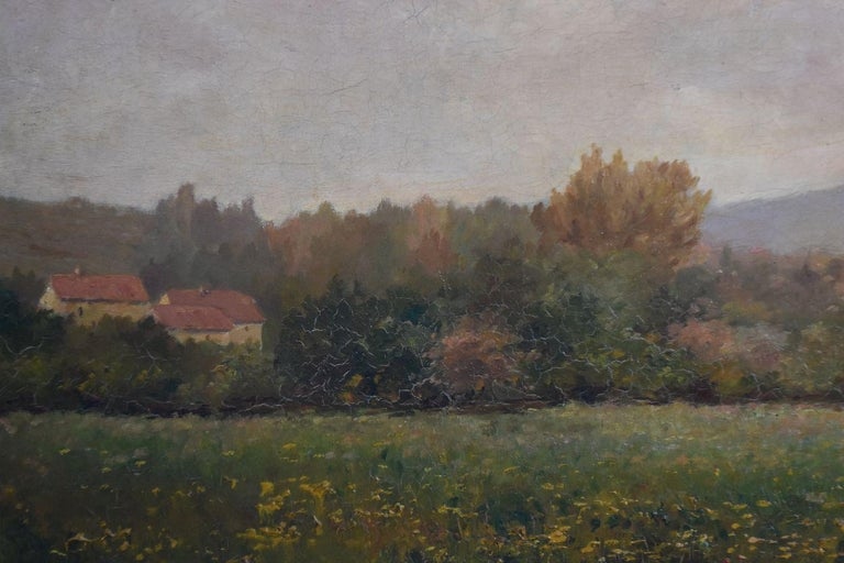 Late 19th Century Oil on Canvas Landscape by Paul Huet For Sale 1