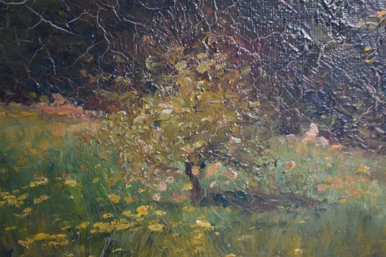 Late 19th Century Oil on Canvas Landscape by Paul Huet For Sale 5