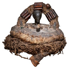 Late 19th or Early 20th Century Tribal Luba Divination Basket, D.R. Congo