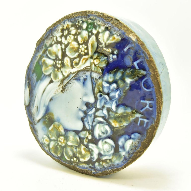 Art Nouveau ceramic paperweight