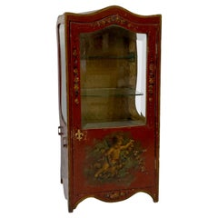 Late 19th to Early 20th Century Sedan Chair Miniature Table Top Display Cabinet