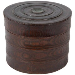 Late 19th to Early 20th Century Small Zelkova Wood Box from Korea