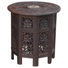 Late 19th Century Anglo Indian Hardwood Occasional Table
