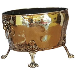 Late 19th Century Brass Log Bucket