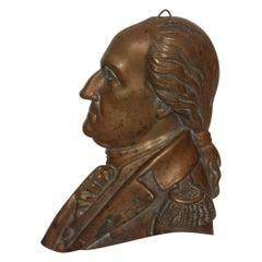Late 19th Century Bronze George Washington Plaque