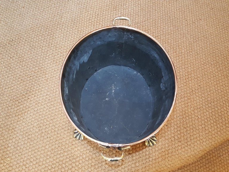 Late 19th Century Continental Copper Log Basket In Good Condition For Sale In Altrincham, Cheshire