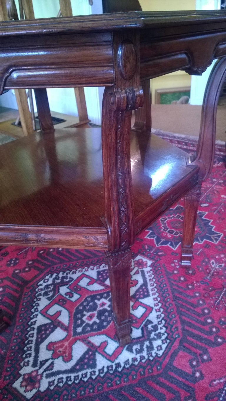 Late Victorian Late 19th Century Rosewood Center Table For Sale