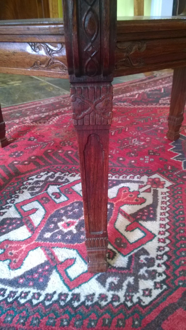 Late 19th Century Rosewood Center Table In Good Condition For Sale In Altrincham, Cheshire