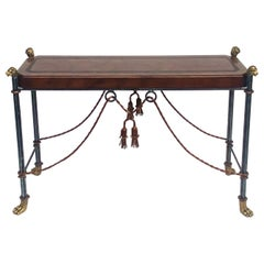 Neoclassical Style Iron and Brass Console Table by Maitland-Smith