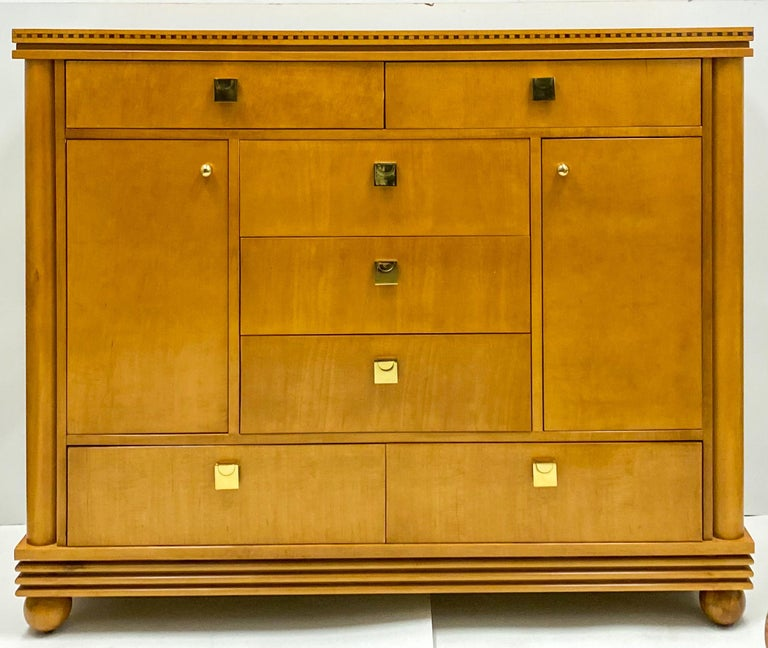 Late 20th Century Biedermeier Style Satinwood Chest by Hickory White Furniture For Sale 1