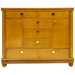 Late 20th Century Biedermeier Style Satinwood Chest by Hickory White Furniture