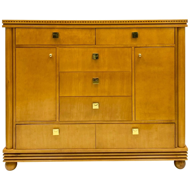 Late 20th Century Biedermeier Style Satinwood Chest by Hickory White Furniture For Sale