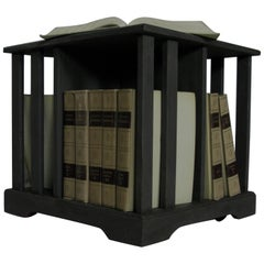 Late 20th Century, Bookcase, Book Table, Bookrack Table, Vintage Book Table