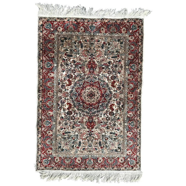 Late 20th Century Chinese Silk Persian Design Rug For Sale At 1stdibs