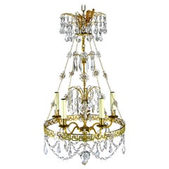 Late 20th Century Empire Style Petite Chandelier
