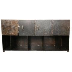 Late 20th Century European Industrial Metal Sideboard or Shelf