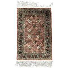 Late 20th Century Fine Chinese Silk Rug Persian Style