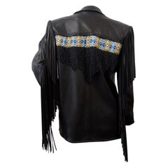 Fringe Leather Jacket Late 20th-Century